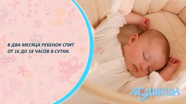Сколько времени спит ребенок в два месяца
