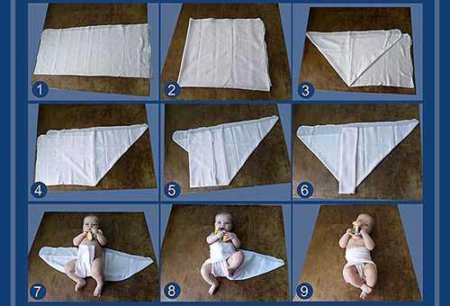 Как сшить одноразовый подгузник дома?