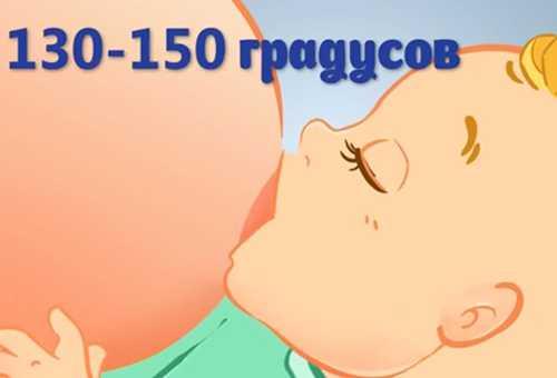Правильное положение тела ребенка при кормлении