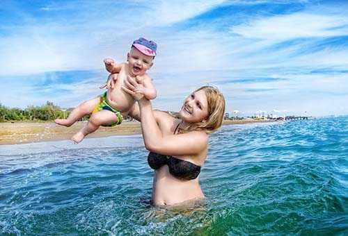 Отдых на море с малышом
