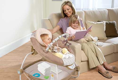 Использование кресла-качалки для новорожденных