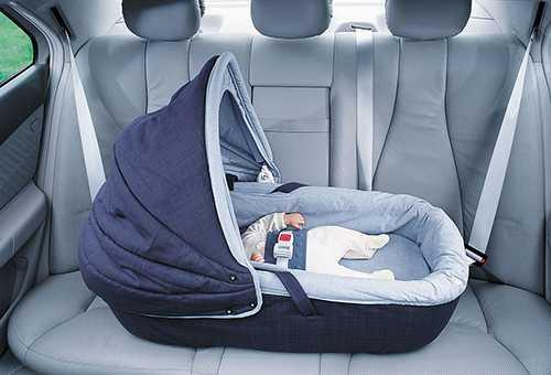 Простая автолюлька для новорожденных