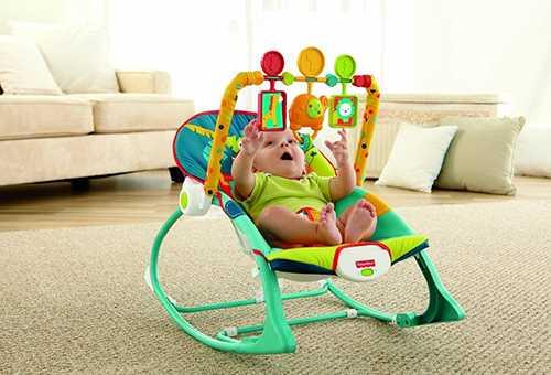 шезлонг детский с вибрацией или без больше ребенок