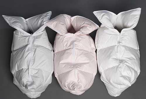 Пуховый конверт-одеяло для новорожденного