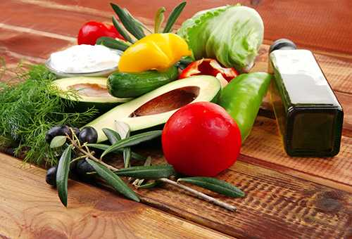 Ингредиенты для питательного салата