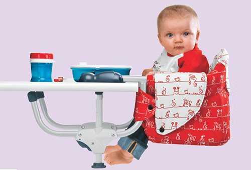 Детский стульчик, который крепится к столешнице