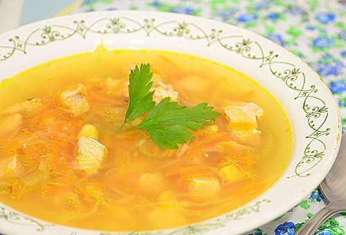 Куриный суп для кормящих женщин