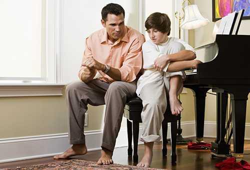 Разговор отца с сыном-подроском
