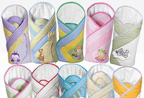 Разные расцветки конвертов для младенцев