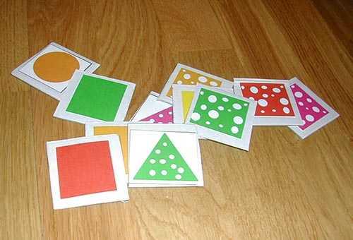 Карточки с геометрическими фигурами