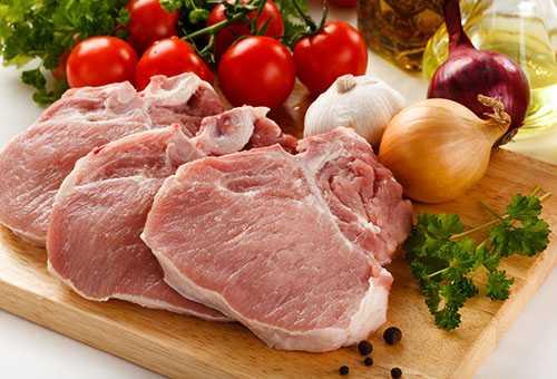 Свежее мясо и овощи