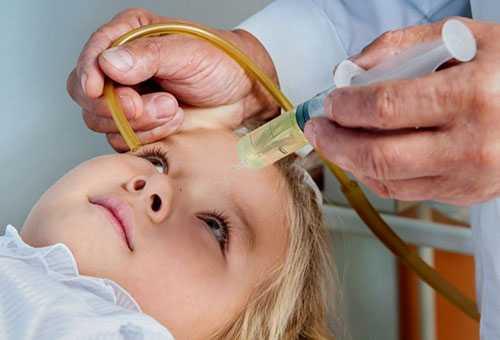 Промывание носа ребенку при гайморите