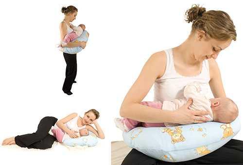 Варианты использования подушки для кормления