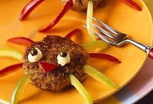 Украшение мясного блюда для ребенка