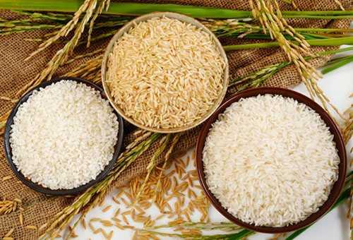 Рисовая крупа разных видов