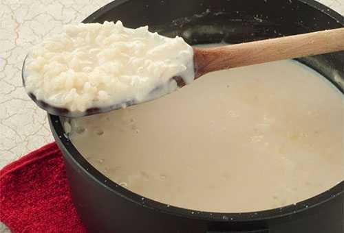 воде на молоке и каши Рецепт рисовой