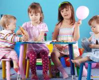 Дети разных возрастов в детском садике
