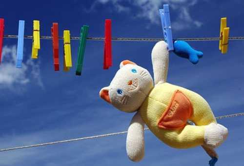 Сушка мягкой игрушки на веревке