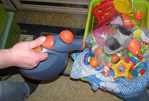 Дезинфекция детских игрушек паром