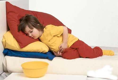 У ребенка болит живот и тошнота