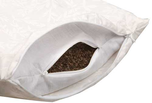 Подушка с наполнителем из гречневой лузги