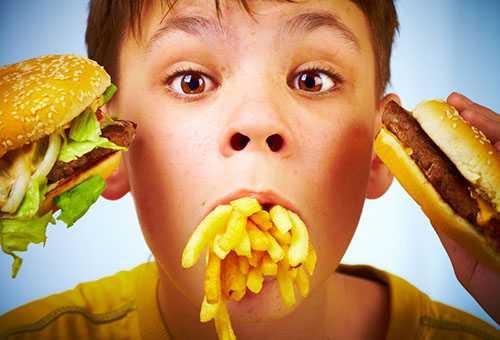 Нерациональное питание ребенка