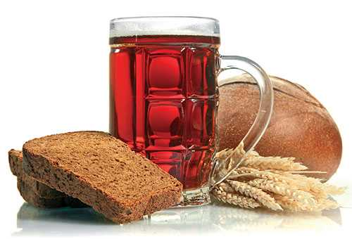 Ржаной хлеб и квас