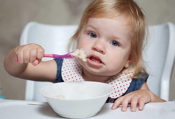 Завтрак ребенка в 2 года