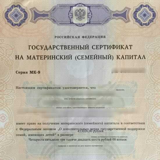 Как сделать материнский сертификат 647