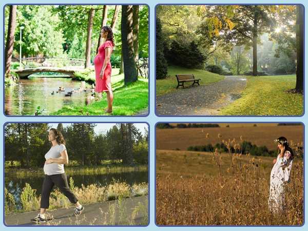Полезны или вредны беременной пешие прогулки?